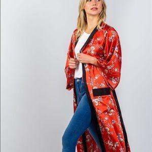 Tops - Floral Maxi Kimono